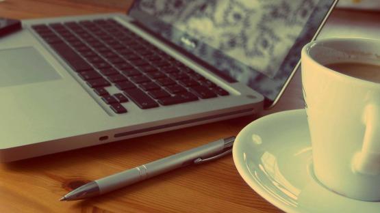 Social Media Intern Photo - Coffee and Computer